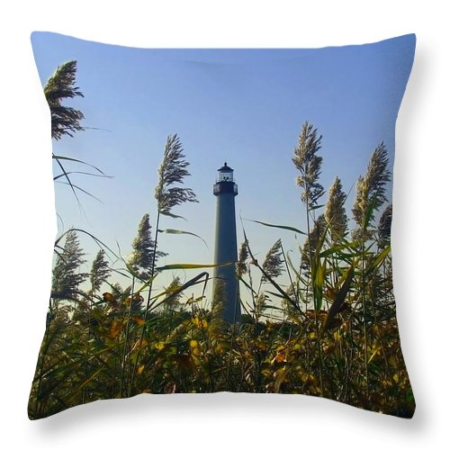 Autumn Throw Pillow featuring the photograph Cape May Light Autumn by Kevin Sherf