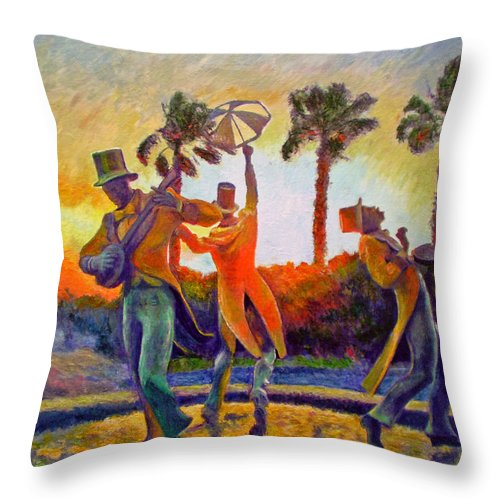 Sunset Throw Pillow featuring the painting Cape Minstrels by Michael Durst
