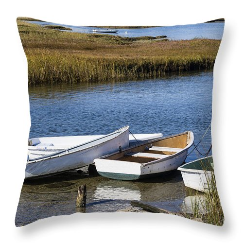 Cape Cod Throw Pillow featuring the photograph Cape Rowboats by John Greim