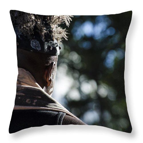Cape Town Throw Pillow featuring the photograph Cape Town Street Chief by Runaldo Ferre