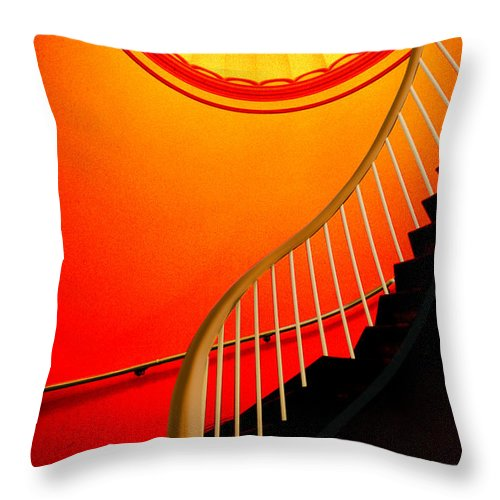 Capital Throw Pillow featuring the photograph Capital Stairs by Paul Wear