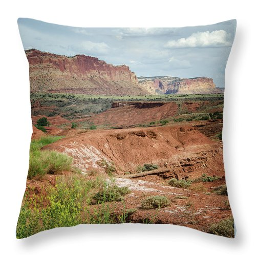 Capitol Reef 4 Throw Pillow featuring the photograph Capitol Reef 4 by Susan McMenamin