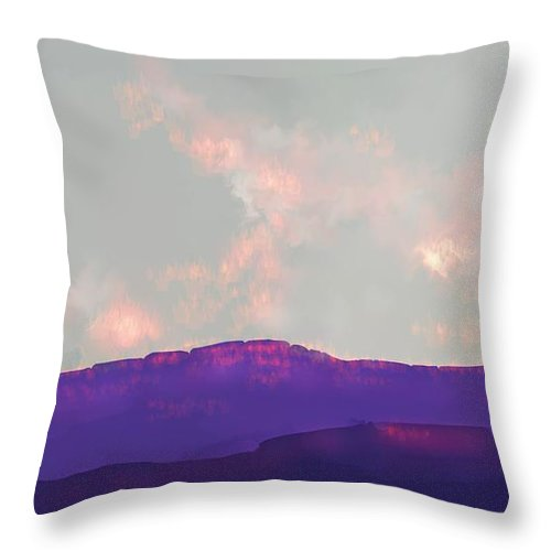 Capitol Reef Throw Pillow featuring the digital art Capitol Reef by Kerry Beverly