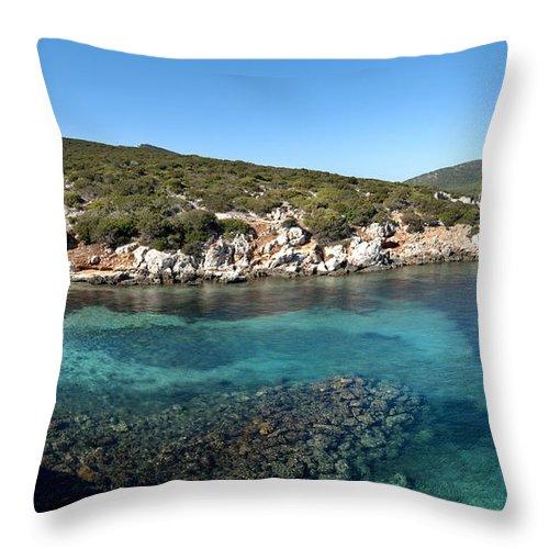 Capo Caccia Throw Pillow featuring the photograph Capo Caccia Sardinia by Robert Lacy