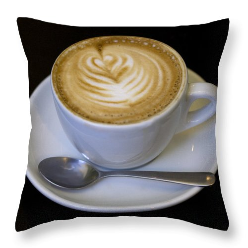 Coffee Throw Pillow featuring the photograph Cappuccino by Tim Nyberg