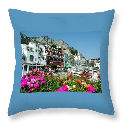 Capri Throw Pillow featuring the photograph Capri by Donna Corless