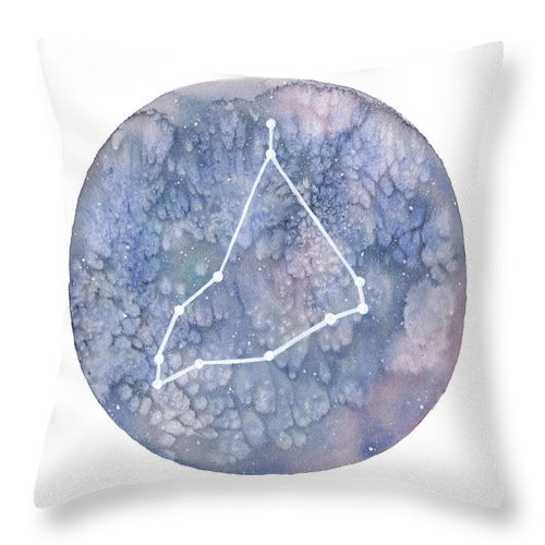 Capricorn Throw Pillow featuring the painting Capricorn by Stephie Jones