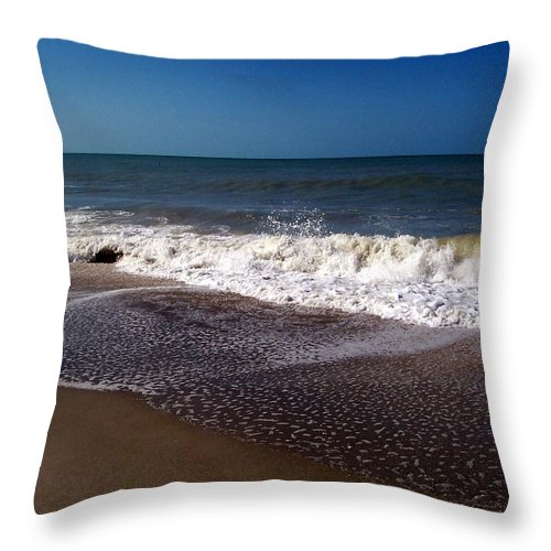 Ocean Throw Pillow featuring the photograph Captiva 2009 by Elizabeth Klecker
