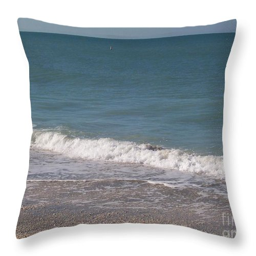 Beach Throw Pillow featuring the photograph Captiva by Elizabeth Klecker
