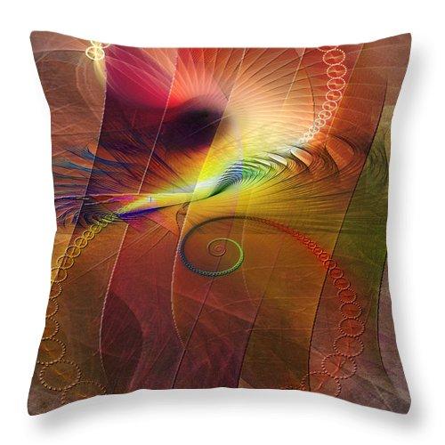 Captive Moment Throw Pillow featuring the digital art Captive Moment by John Beck