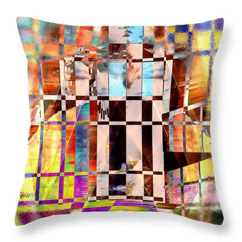Abstract Throw Pillow featuring the photograph Captivia by Seth Weaver