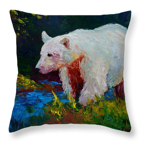 Western Throw Pillow featuring the painting Capture The Spirit by Marion Rose