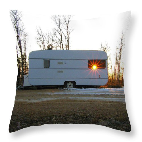 Caravan Throw Pillow featuring the photograph Caravan by Are Lund