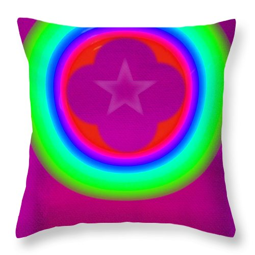 Abstract Throw Pillow featuring the painting Cardinal See by Charles Stuart