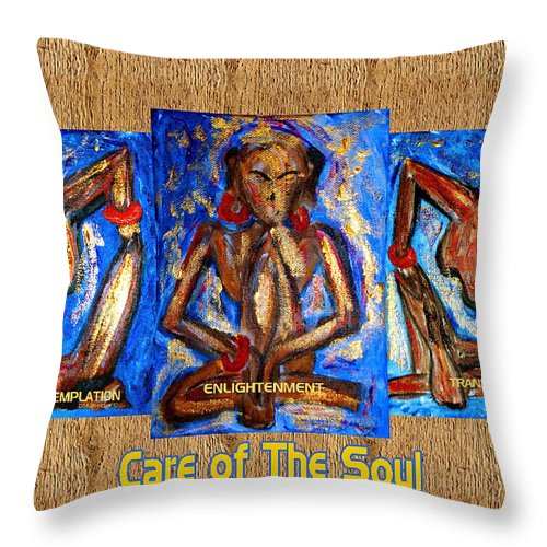 Soul Throw Pillow featuring the painting Care Of The Soul by Donna Proctor