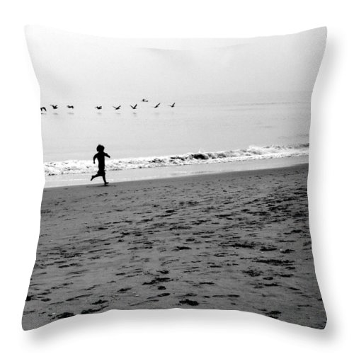 Photograph Throw Pillow featuring the photograph Carefree by Jean Macaluso