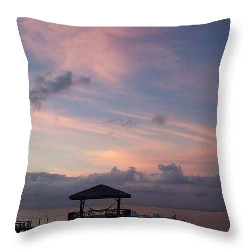 Ocean Throw Pillow featuring the photograph Caribbean Sunrise by Gale Cochran-Smith