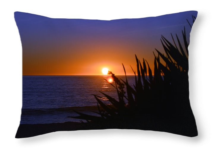 Carlsbad Throw Pillow featuring the photograph Carlsbad Romance by Bill Dutting
