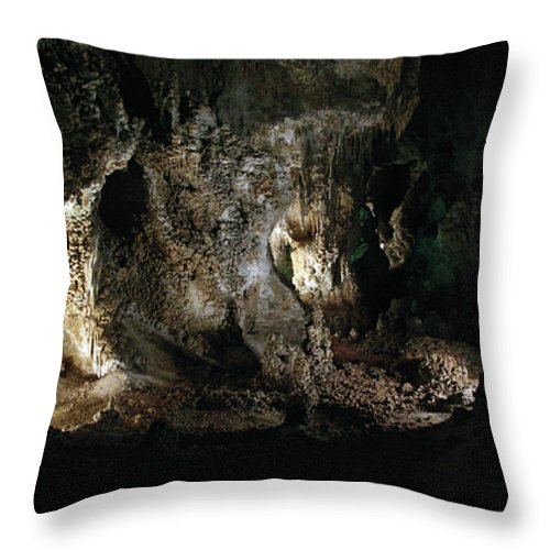 Cave Throw Pillow featuring the photograph Carlsbad Tunnels by Alycia Christine