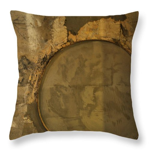 Concrete Throw Pillow featuring the photograph Carlton 3 - Abstract Concrete by Tim Nyberg