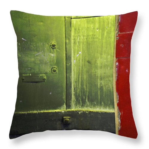 Metal Throw Pillow featuring the photograph Carlton 6 - Firedoor Abstract by Tim Nyberg