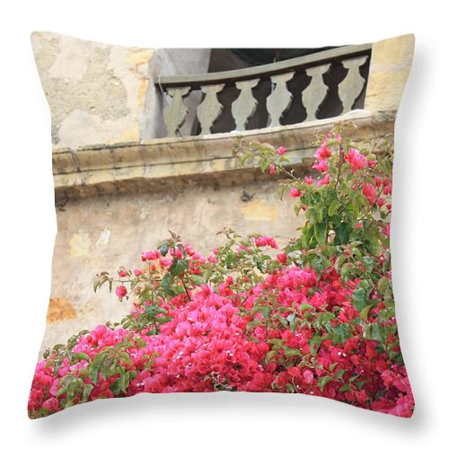 Carmel-by-the-sea Throw Pillow featuring the photograph Carmel Mission Bell by Carol Groenen
