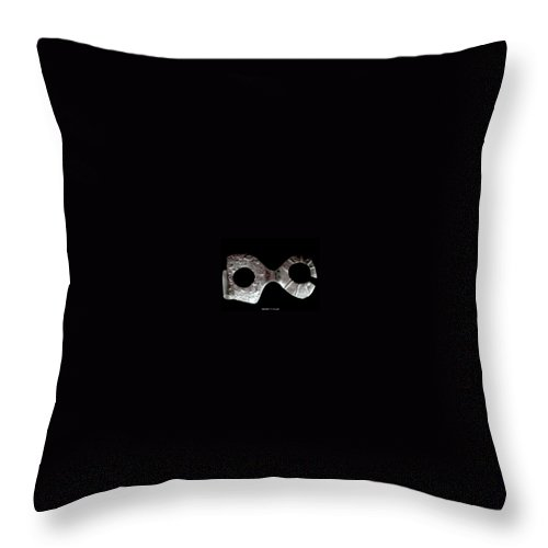 Carnival Type Face Mask For Wearing In .999 Fine Silver Throw Pillow featuring the photograph Carnival 002 by Robert aka Bobby Ray Howle