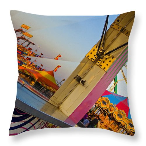 Carnival Throw Pillow featuring the photograph Carnival 1 by Skip Hunt