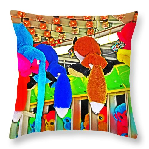 Carnival Throw Pillow featuring the photograph Carnival Critters by David Frederick