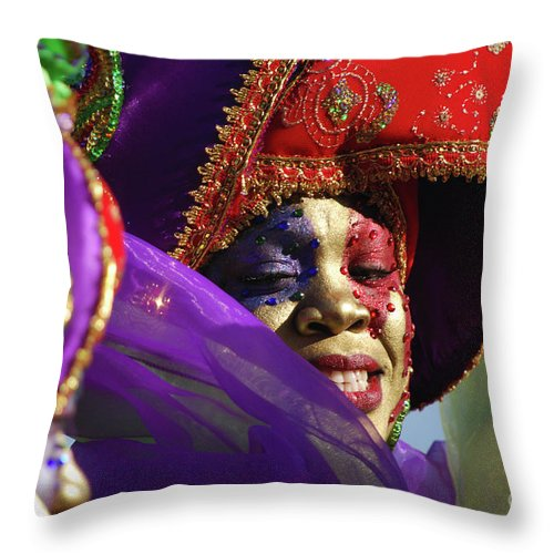 Throw Pillow featuring the photograph Carnival Personified by Heather Kirk