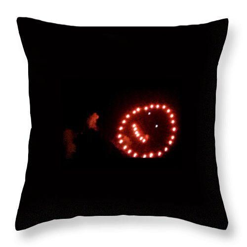 Throw Pillow featuring the digital art Carnival Smiley Face by Robert aka Bobby Ray Howle