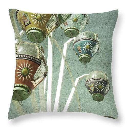 Amusement Throw Pillow featuring the photograph Carnivale by Andrew Paranavitana
