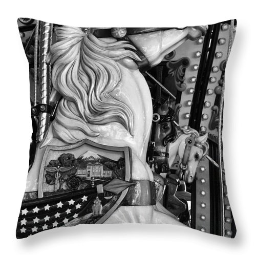 Carousel Throw Pillow featuring the photograph Carousel Beauty Salem Oregon 12 by Bob Christopher