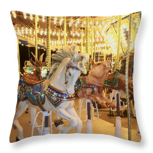 Carosel Horse Throw Pillow featuring the photograph Carousel Horse 2 by Anita Burgermeister