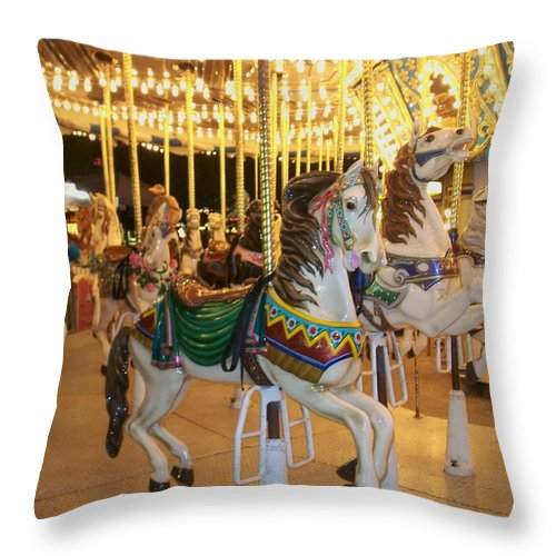 Carousel Horse Throw Pillow featuring the photograph Carousel Horse 4 by Anita Burgermeister
