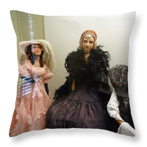 Doll Throw Pillow featuring the photograph Carpe Diem by Charles Stuart