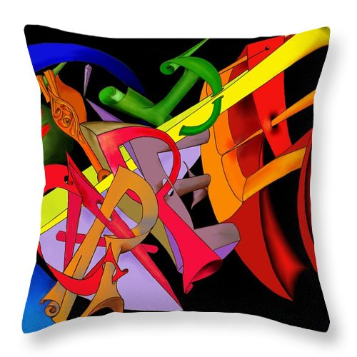 'carpe Diem' Throw Pillow featuring the digital art Carpe Diem II by Helmut Rottler