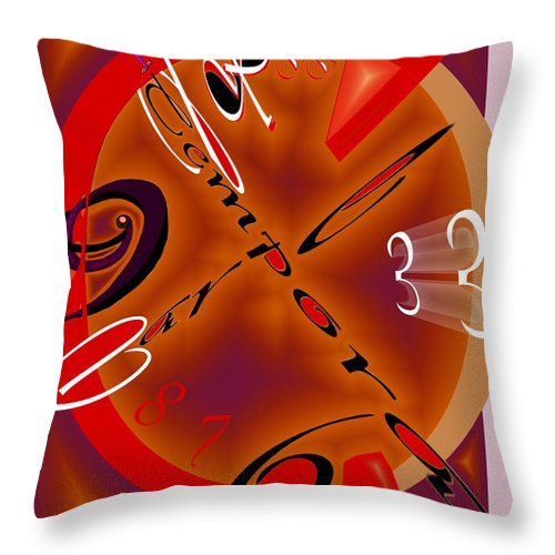 Carpe. Tempora Throw Pillow featuring the digital art Carpe Tempora by Helmut Rottler