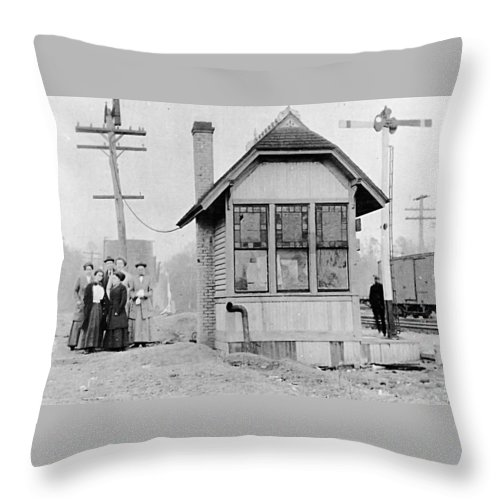Carpenter Station Baldwin County Alabama Throw Pillow featuring the photograph Carpenter Station Baldwin County Alabama by Baldwin County Historical Research Group