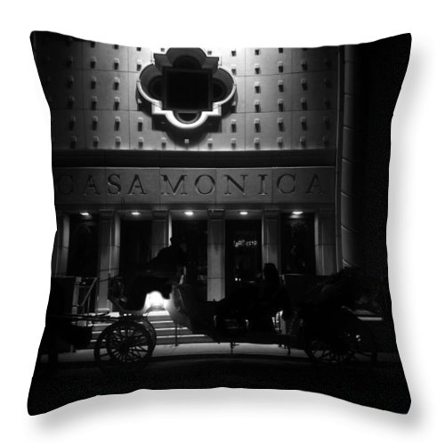 Carriage Throw Pillow featuring the photograph Carriage Ride At The Casa Monica by David Lee Thompson