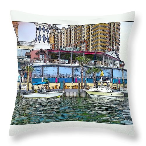 Cartoon Throw Pillow featuring the photograph Cartoon Boats by Michelle Powell