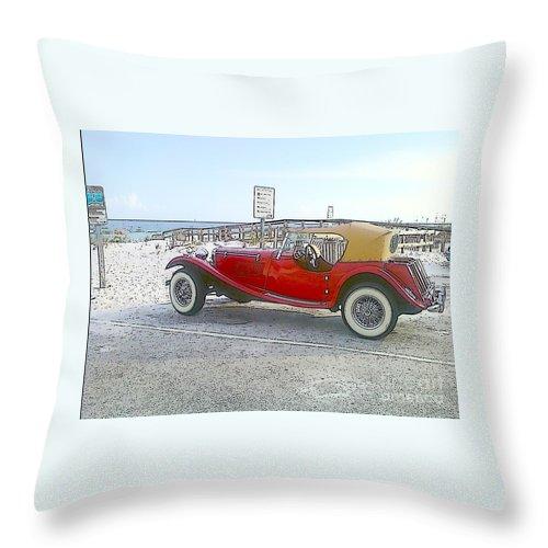 Cartoon Throw Pillow featuring the photograph Cartoon Car by Michelle Powell