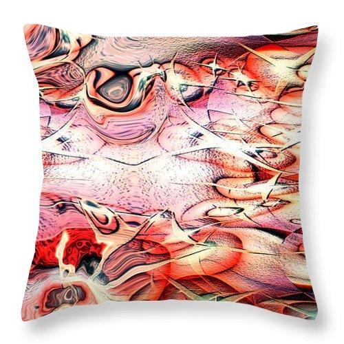 Abstracts Throw Pillow featuring the digital art Cartoon Planet by Linda Sannuti