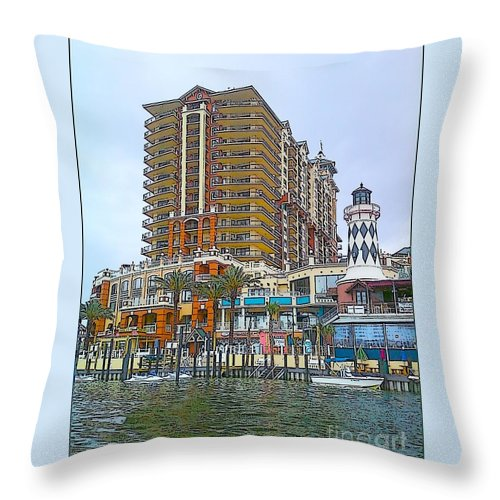 Cartoon Throw Pillow featuring the photograph Cartoon Skyscraper by Michelle Powell