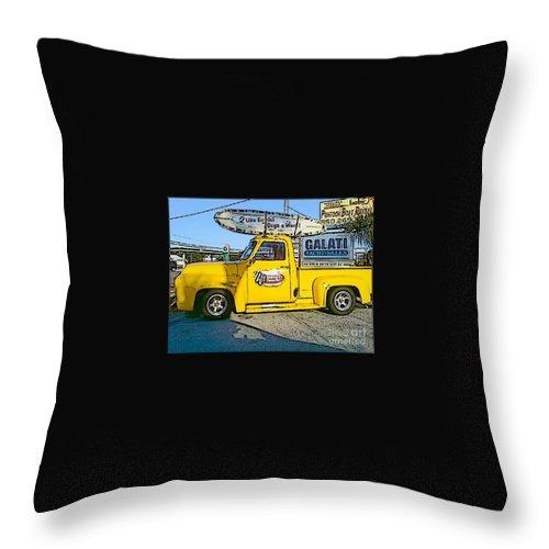 Cartoon Throw Pillow featuring the photograph Cartoon Truck by Michelle Powell