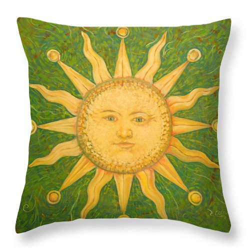 Sun Throw Pillow featuring the painting Casa Del Sol by Alan Schwartz
