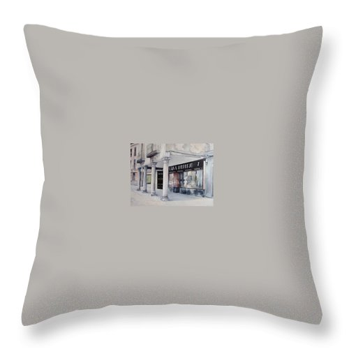 Casa Throw Pillow featuring the painting Casa Ridruejo Arevalo by Tomas Castano