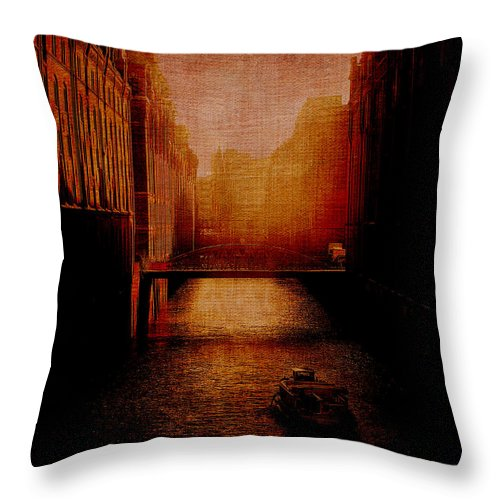 Venice Throw Pillow featuring the digital art Casanova's Waterway by Sarah Vernon