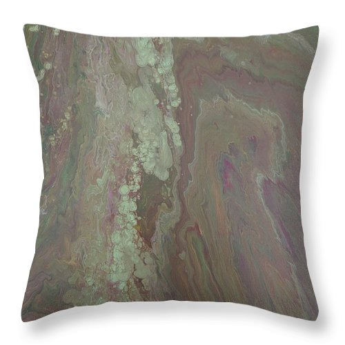 Abstract Throw Pillow featuring the painting Cascade by Kylen Mattison