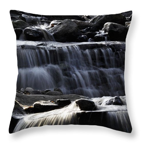Clay Throw Pillow featuring the photograph Cascading Falls by Clayton Bruster